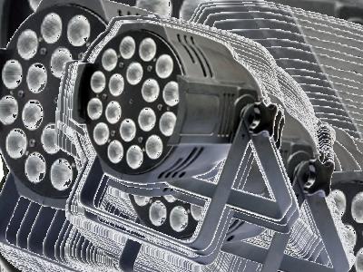 LED PAR RGBW 1810